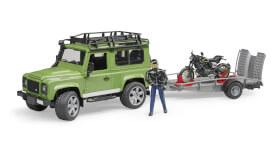 Bruder 02598 Land Rover Station Wagon mit Anhänger Ducati, ab 4 Jahren, Maße: 58,4 x 19,3 x 19,6 cm, Kunststoff