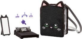 Na! Na! Na! Surprise 3-in -1 BackPack Bedroom Playset- Black Kitty