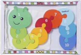 Beeboo Zahlenpuzzle Raupe, 10-teilig