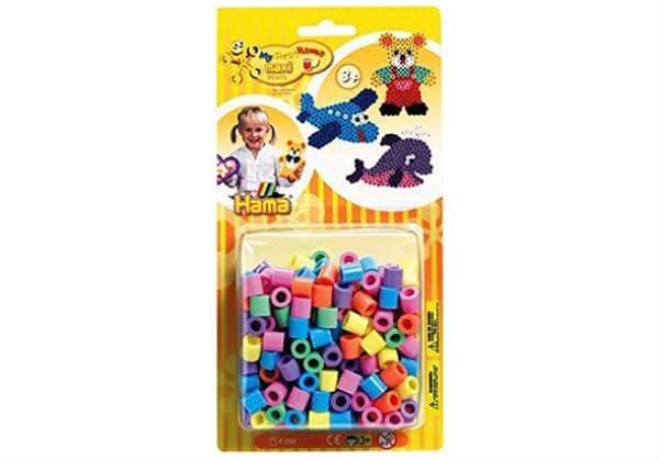 7 Farben Hama Bügelperlen Maxi Vollton Mix 250 Perlen